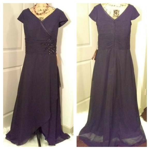 Light In The Box Dresses & Skirts - New Light In The Box Black Evening Gown sz 16 w